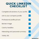 LinkedIn optimisation checklist